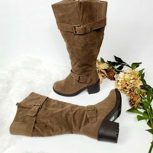 Lane Bryant Boots Brown  Suede Womens 8W Heel